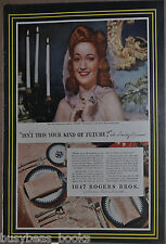 1943 International Silver advertisement, with Dorothy Lamour, 1847 Rogers Bros.