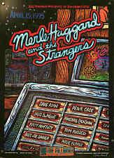 Merle Haggard & Strangers Poster The Fillmore 1995 Hand-Signed John Howard
