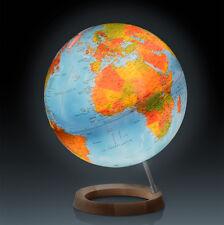 mappamondo national geographic globo neon classic base  legno circolare con luce