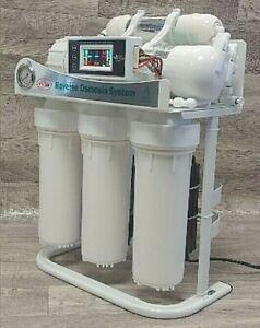 7 Stufen Umkehr osmose Wasserfilter Anlage 400 GPD directflow Energetisierer LCD