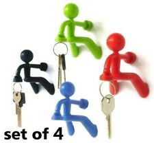 Set of 4 Fun Magnetic Man with Strong Magnet for Key Holder
