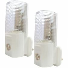 2 x AUTOMATIC ON/OFF LED PLUG IN NIGHT LIGHT LOW ENERGY SAFETY NIGHT LIGHTS NEW