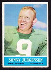 1964 PHILADELPHIA #186 SONNY JURGENSEN REDSKINS