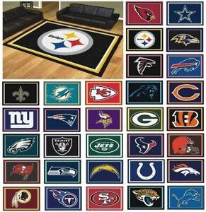 NFL Teams - 8' X 10' Decorative Ultra Plush Carpet Area Rug NFL FANMATS