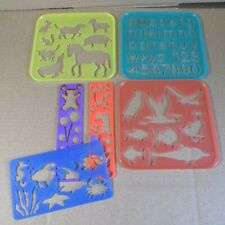 TUPPER TOYS - 1987 Lot of 3 Stencils - Animals & Letters/Numbers +other stencils