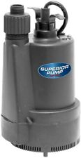 Superior Pump 1/3 HP Submersible Thermoplastic Utility Pump - 40 Gal. Per Minute