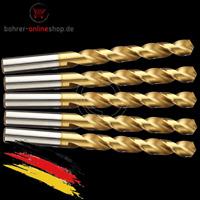 5x HSS-TIN Metallbohrer Spiralbohrer für Akkuschrauber/Bohrmaschine Ø 10,9mm