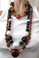 Great Lot of 3 Vintage Beaded Necklaces Stone & MORE!