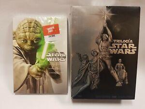 PELICULA DVD PACK SAGA STAR WARS EPISODIOS 1 A 3 PRECINTADA + TRILOGIA CLASICA