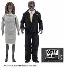 """NECA - THEY LIVE Retro Clothed Alien 2 Pack 8"""" Scale Action Figure Collection"""
