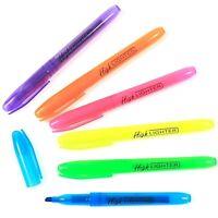 6X Fluorescente Resaltadores Mezcla Color Plumas Rotuladores Oficina Escuela