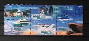 HONG KONG # 821b. BLOCK OF SIX, NEW HONG KONG AIRPORT. MNH