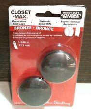 """Knape & Vogt 00174 Closet Max Pole End Caps, Bronze 1-5/16"""" Free Shipping"""