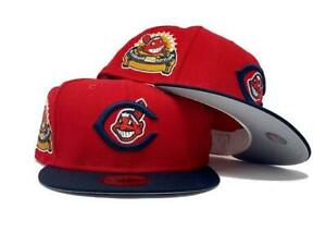 Sports World Exclusive Cleveland Indians 1954 All Star Patch New Era Hat 7 3/8