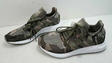Adidas Mens Green Camo Canvas Lace-Up Running Sneakers Size 9.5 NWT