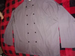 Chef Coat Long Sleeve Wide Sleeve Cook Jacket Kitchen Restaurant size 4XL (B48)