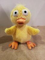 "Hallmark Wacky Doodle Dandy Animated 11"" Yellow Duck Chicken Dance"