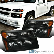 For 04-12 Chevy Colorado GMC Canyon Black Headlights Lamps+Corner Signal Lights