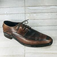 Alfani Mens Engineer Lace Up Dress Oxfords Italy Made Walnut Brown Size 9.5