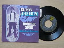 """ELTON JOHN Border Song Rare French 7"""" in picture sleeve DJM 17556 1970"""