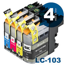 LC-103 Compatible Ink 4pk combo for Brother LC101MFC-J470DW MFC-J475DW