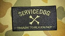 NEW SERVICE DOG TRAINING TO BE A SOLDIER TACTICAL AIRSOFT PATCH AUSTRALIA SELLER