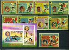 1974 - GUINEA EQUATORIALE - LOTTO/24030 - MONDIALI DI CALCIO MONACO - 9v. + BF.