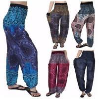 Ladies Baggy Rose Pants, Baggy One Size Rose Hippie Pants, Yoga, Maternity, PLUS