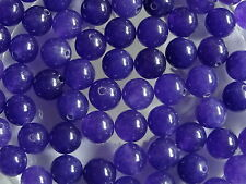 CLEARANCE 50 Amethyst Round Gemstone Jewellery Beads 8mm