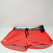 Under Armour Heatgear Loose Fit Shorts Youth Girls Size YXL Orange New With Tag