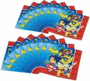 DC Super Hero Girls Paper Napkins Serviettes Superheroes Party Tableware x 16