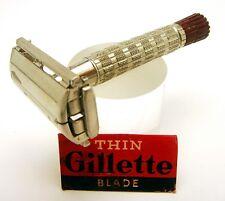 Vintage Gillette Super Speed Red Tip Heavy Exposure Handle Shaving Razor E1