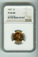 1957 1C Lincoln Wheat Cent Proof (PF 66 RD) NGC