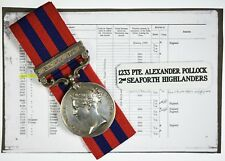 Victoria India General Service Medal Hazara 1891 - 1233 Pte.A.Pollock Sea Higher