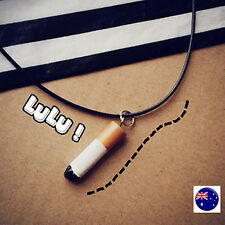 Women Lady Harajuku retro Cigarette Pendant Choker short Punk Novelty Necklace