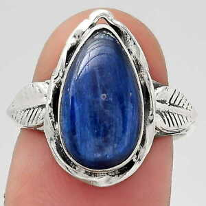 Natural Blue Kyanite - Brazil 925 Sterling Silver Ring s.7 Jewelry E578