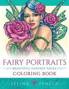 Magical Fairies Portraits Faces Fairy Beautiful Fantasy Adult Colouring Book
