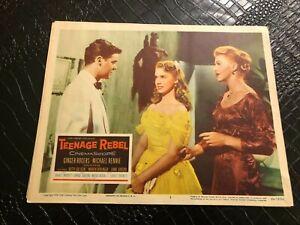 1956 MOVIE LOBBY CARD #4-2357 TEENAGE REBEL - GINGER ROGERS