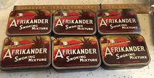 6 Vintage Tobacco Tins, Vintage Afrikander Tobacco Tins, C W & Co London