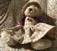 "Rich Beige 9"" Plush Bear All Dressed Up for Fall"