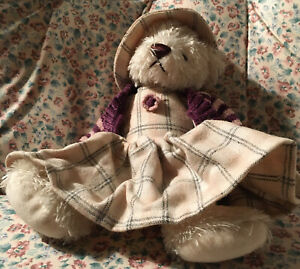 """Rich Beige 9"""" Plush Bear All Dressed Up for Fall"""