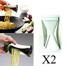 X2 Spiral Slicer Cutter Vegetable Fruit Spiralizer Twister Peeler Kitchen Tool