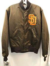 Medium Vintage MLB Starter San Diego Padres Satin Brown Bomber Baseball Jacket