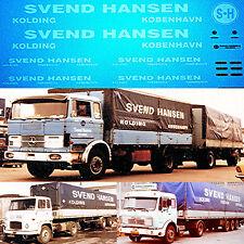 SVEND Hansen kolding Danmark MERCEDES 1616 Scania 1:87 truckdecal Camión