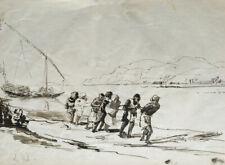 HALEURS SUR LE NIL - DESSIN PLUME & ENCRE DE CHINE - DATÉ EN BAS À GAUCHE - 1886