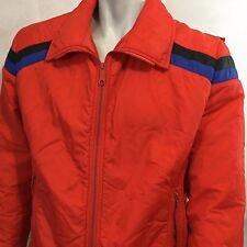 Vtg Slalom Ski Jacket Coat  Size M Red black Blue 80s Snow Ski Snowboarding USA