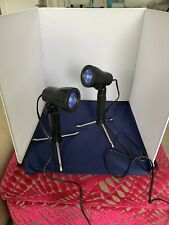 """Portable Light Box With Two Tripod Lights In Case 16"""" Square"""
