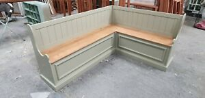 Pine Corner Bench Seating New Storage Seat Painted In Any Colour 1.9m x 1.5m
