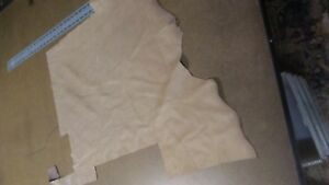 SPECIAL Rich touch grainy Cowhide leather skin piece beige 3oz #83