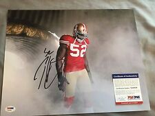 PATRICK WILLIS Signed Autographed 11x14 Photo San Francisco 49ers PSA/DNA